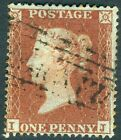 1854 1d Red IJ C1 Plate 195 SC16 VERY FINE USED V73905