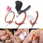 3 Pcs/Set Eagle Deer Squirrel Band Midi Urban Wrap Knuckle Finger Rings Jewelry