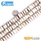 Natural 6x12mm Sea Shell MOP Rondelle Spacer Jewelry Making Beads Free Shipping
