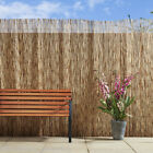 Natural Peeled Reed Screening Roll Garden Screen Fence Wood Fencing Panel 1 x 3m