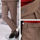 Get Up Mod Retro Frogmouth Pocket Slim Fit Check Trousers Gold