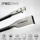 ITEC MICRO USB 2.0 ALLOY DATA SYNC CHARGER CHARGING CABLE LEAD FOR LENOVO BLACK