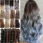 100% Natural 1 Pieace Clip in Full Head Hair Extensions Ombre As Human Hair TO2