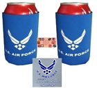 USA US AIR FORCE Wings CAN KOOZIE COOLER Wrap Insulator Sleeve Jacket Holder