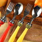 Cute kids cutlery cartoon Child flatware,Beetle toddler cutlery set,spoon & fork