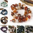 1 Strand Gemstone Agate Faceted Round Ball Loose Beads Jewelry Finding DIY Craft