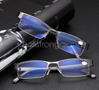 High quality Mens Half frame Style Blue Film Anti-radiation Reading glasses