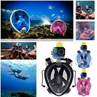 Swimming Full Face Mask Surface Diving Breath Snorkel Scuba Goggles for GoPro