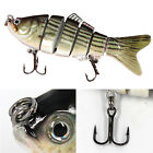 Multi Jointed Fishing Lures Swimbait 3D Eyes Life Like Treble Hooks Baits Tackle