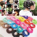 100pcs Baby Girl Kids Tiny Hair Bands Elastic Ties Ponytail Holder