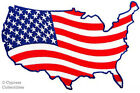 UNITED STATES AMERICA embroidered PATCH AMERICAN FLAG iron-on USA US NATIONAL