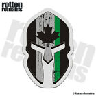Canada Subdued Flag Thin Green Line Spartan Decal Canadian Gloss Sticker HGV