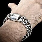 Miami Cuban Link Bracelet , Chunky, Thick, Heavy - Sold Sterling Silver @ 20mm