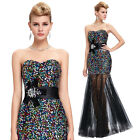 NEW Long Sequins Dress Evening Gown Formal Party Wedding Bridesmaid Prom Dresses