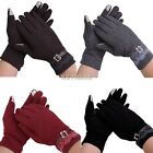 New Women's Winter Mittens Full Finger Touch Screen Gloves With Lace K0E1