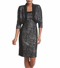 R&M RICHARDS® 8, 10, 12, 14 Lurex Jacquard Jacket Dress NWT