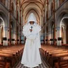 Monk Constume Medieval Renaissance Priest Fancy Dress Party Hooded Minister Robe