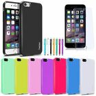 For iPhone 7/7 Plus Rubber Jelly TPU Back Case Cover + Tempered Glass Film + Pen