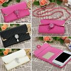 Fashion Women Plaid Synthetic Leather Flip Wallet Card Holder Handbag DZ8801