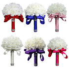 Wedding Party Bride holding flowers wedding bouquet 6 color for option