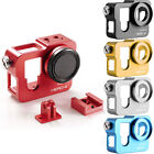 Metal Aluminum Protective Housing Frame Case Mount +Lens Cap for GoPro HD Hero 4