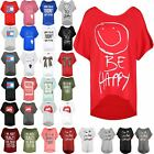 Women Ladies Baggy Oversize Round Neck Batwing Direct Sleeve BE HAPPY TShirt Top