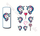 StickerKunst Einhorn, Unicorn, Wraps, Tattoos, Sticker, Wasserlöslich, Nailart