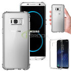 For Samsung Galaxy S8/S8 Plus Crystal Clear Shockproof TPU Soft Back Case Cover