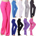 S-3XL Women's Summer Pants Casual High Waist Flare Stright Legging Trousers S504