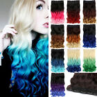 """20""""-22"""" One Piece 5 Clip in Hair Extensions Like Human synthetic Ombre Curly"""