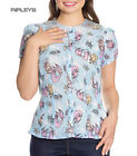 Hell Bunny Shirt Top Coralia Seahorse Blue ANDRINA Mermaid Blouse All Sizes