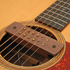 ACOUSTIC GUITAR SOUNDHOLE DUAL COIL MAGNETIC PICKUP WITH WALNUT CASING