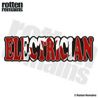 Electrician Decal Canada Canadian Flag Gloss Vinyl Hard Hat Sticker WRS