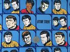 STAR TREK Original TV cast checked faces : LICENSED fabric : by the 1/2 metre
