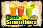 DECAL (Choose Your Size) Fruit Smoothies Food Sticker Restaurant Concession