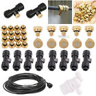 "1/4"" Slip-Lok Tees Water Hose 10/24 UNC Brass Misting Nozzles For Cooling System"
