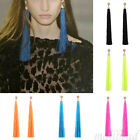 Fashion Elegant Women Silk Yarn Long Tassel Fringe Dangle Charm Drop Earring hot