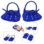 Unisex 2pcs Swimming Hand Paddles Fins Webbed Training Pool Diving Hand Gloves