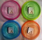 Transparent Colourful Plastic Dog Cat Pet Feeding Bowl. 4 colours to Choose from