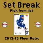 (HCW) 2012-13 Upper Deck Fleer Retro NHL Hockey Cards Set Break - You Pick $0.75 USD on eBay