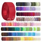 10 Meters Grosgrain Ribbon 6/10/15/20/25/38mm Craft Wedding Decor 40 Colors FB