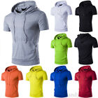 New Fashion Men's Hooded Hoodie Short Sleeve Casual T-Shirt Tee Tops With Pocket