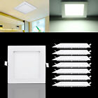 Square Dimmable LED Recessed Ceiling Panel Down Light 3W 12W 18W 24W AC85-265V#Y