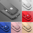 Hybrid 360° PC Hard Case+Tempered Glass Cover For Apple iPhone 7 7 Plus  6s 5 SE