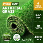 5-60SQM Synthetic Turf Artificial Grass Plastic Plant Fake Lawn Flooring 40mm
