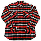 CHOCOLATE Skateboard Longsleeve Flannel Shirt DIAMOND RED