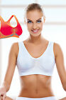 Pierre Cardin Seamless Bustier Yoga Breathable Sport Shock Absorber Bra S M L XL