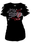 Stole My Heart Baseball, Mom Bling Bling RHINESTONE T-SHIRT,RIPPED CUT OUT S~3XL