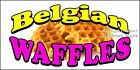 Choose Your Size) Belgian Waffles DECAL Food Truck Vinyl Sign Concession