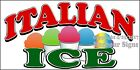 (CHOOSE YOUR SIZE) Italian Ice DECAL Concession Food Truck Vinyl Sticker
